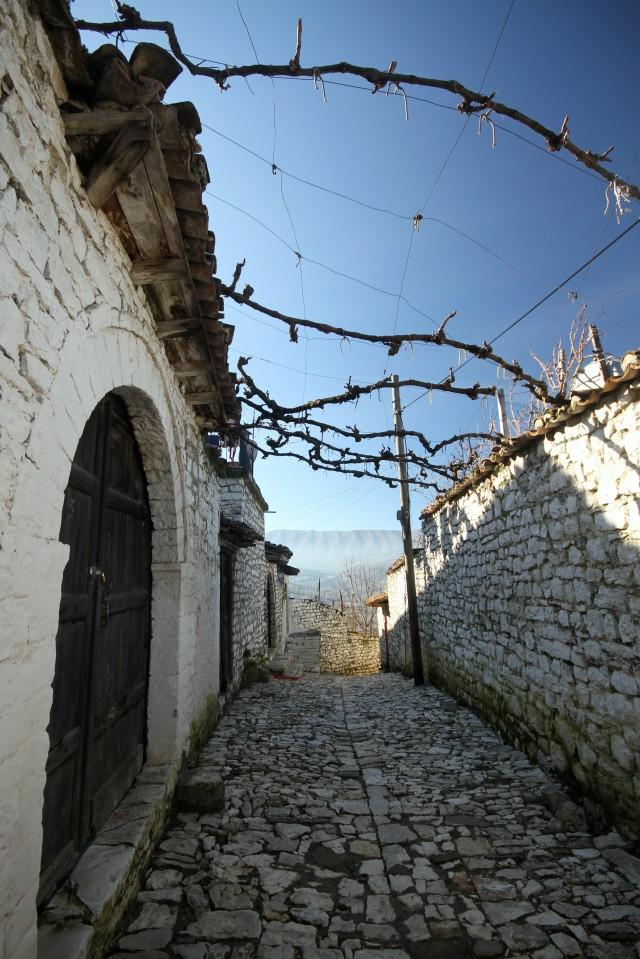Cobblestone streets of Berat, Albania
