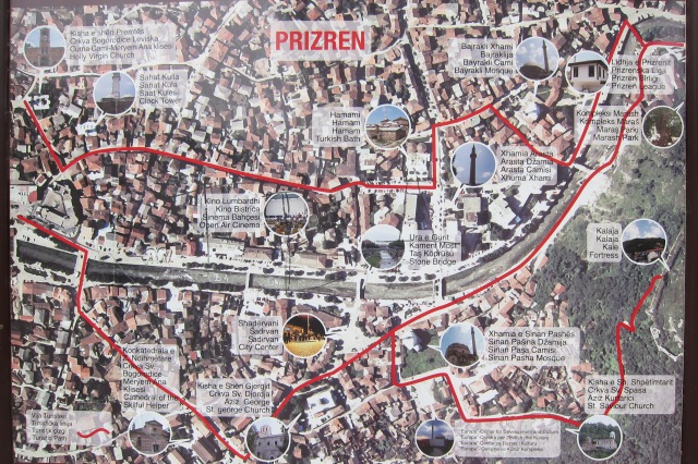 Map of Prizren