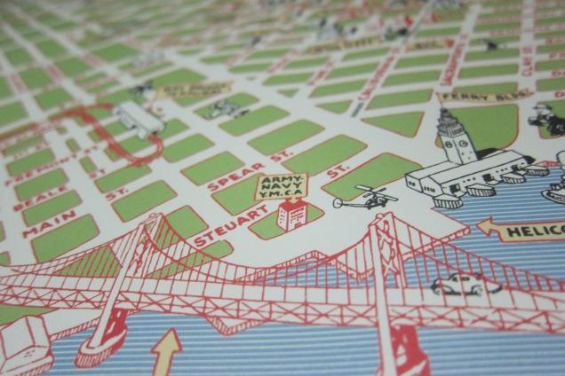map of san francisco bridge