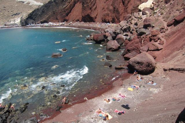 santorini red sand beach